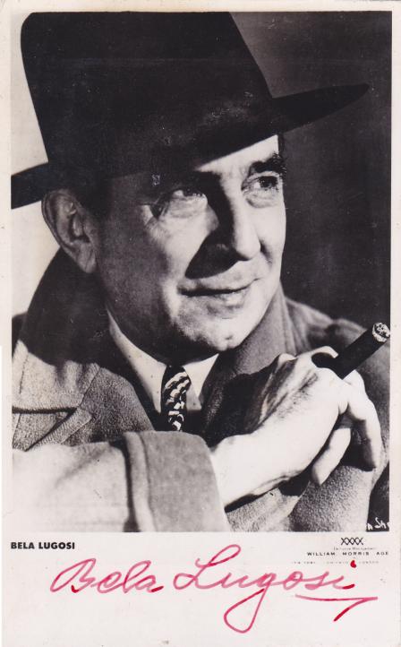 Bela Autographed Postcard