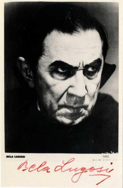 Bela Lugosi autographed postcard 1