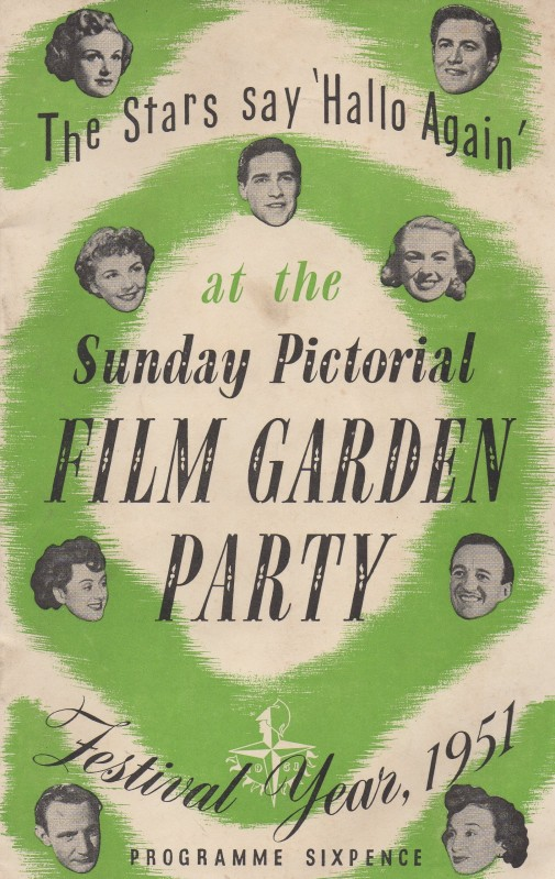 Sunday Pictorial Film Garden Party Programme cover