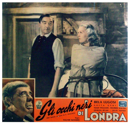 Dark Eyes of London Italian Lobby Card