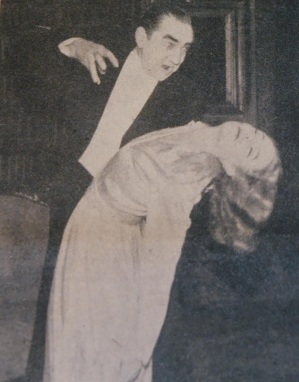 Bela and leading lady Sheila Wynn at the Lewisham Hippodrome