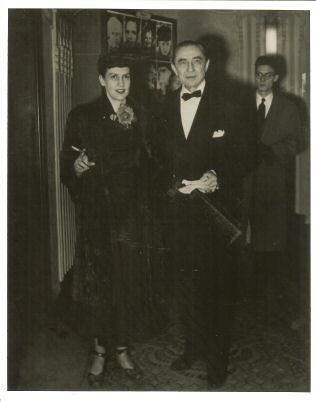 Bela and Lillian at the premiere of Scrooge