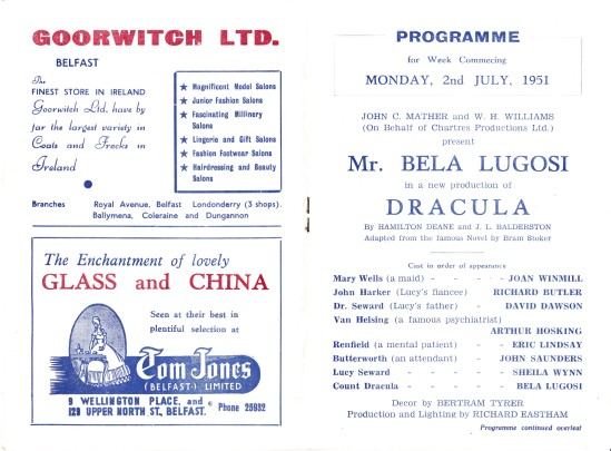 Belfast Opera House Programme