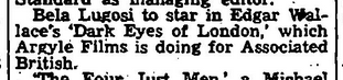 Dark Eyes of London, Variety, March 22nd, 1939