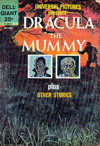 Dracula - The Mummy, Dell Giant Universal Pictures Dracula the Mummy 1963