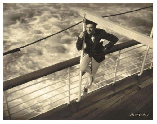 Bela Lugosi en route to Hawaii aboard The City of Los Angeles