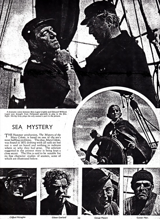 Mystery of the Marie Celeste Film Weekly August 16th, 1935