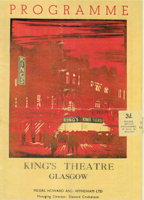King's Theatre, Glasgow Programme