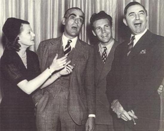 Harriet Hilliard, Boris Karloff, Ozzie Nelson, Bela Lugosi