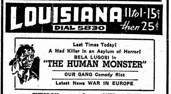 Human Monster,  Advocate, June 3, 1940