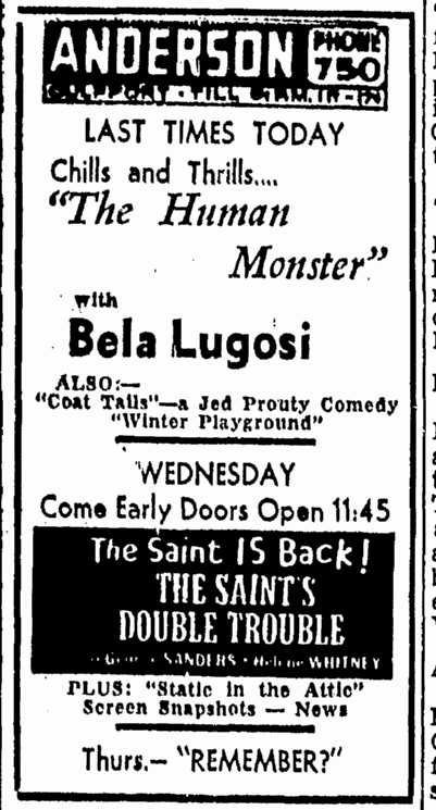 Human Monster, Daily Herald, April 16, 1940