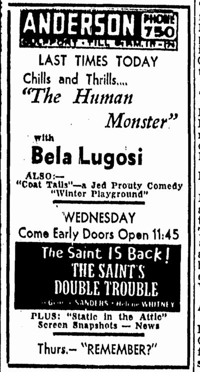 Human Monster, Daily Herald, April 16, 1940