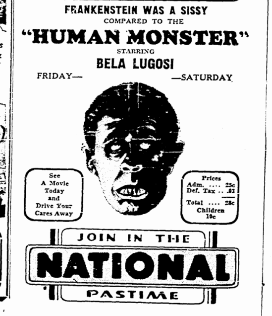 Human Monster,  Greensboro Daily News, July 21, 1940