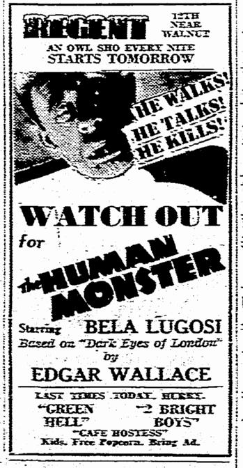 Human Monster, Kansas City Star, June 29, 1940
