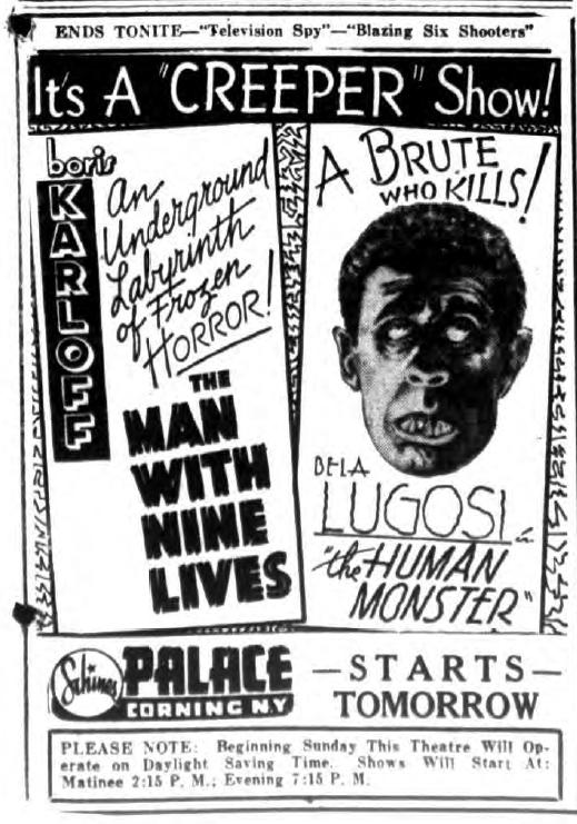 Human Monster newspaper ad.