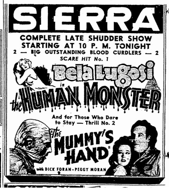Human Monster, Sacremento Bee, September 14, 1940 2