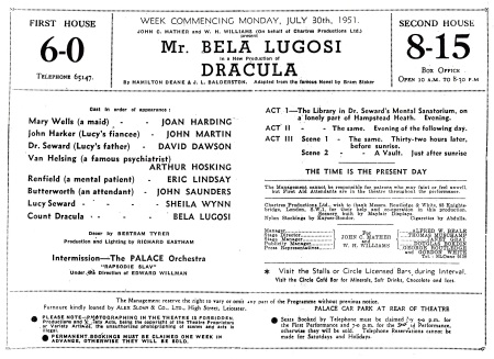 Leicester Theatre Royal Programme