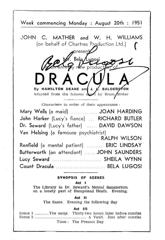 Luton Alma Theatre Programme