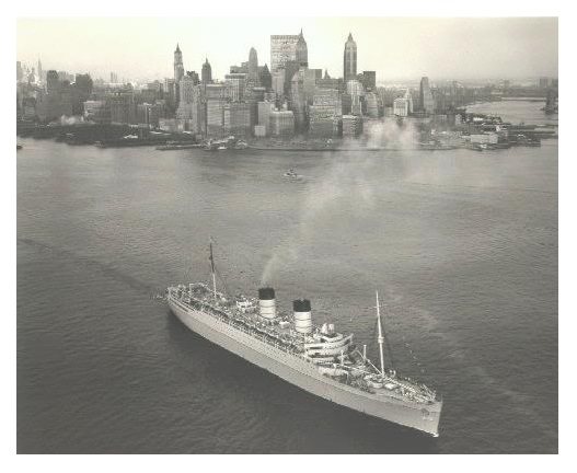 Mauretania leaving New York
