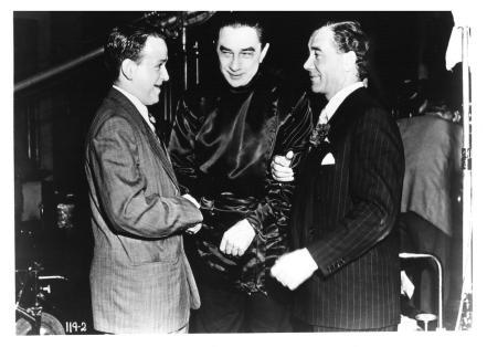 Richard Gordon, Bela and George Minter pose on the set PS 2
