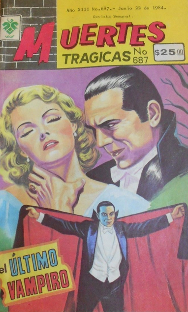 MUERTES TRAGICAS (TRAGIC DEATHS) EL ULTIMO VAMPIRO (THE LAST VAMPIRE) story of BELA LUGOSI, DRACULA 1984