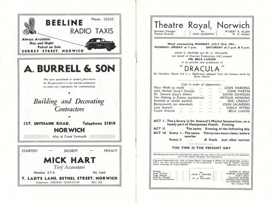 Norwich Theatre Royal Programme