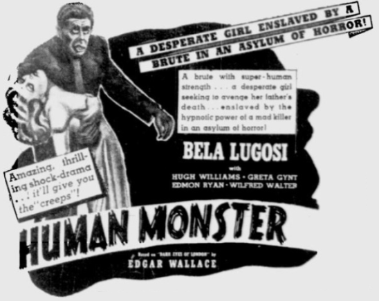 The Human Monster Reading Eagle, May 5, 1940