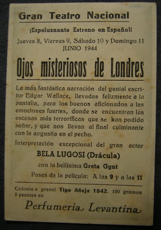 Reverse of Dark Eyes of London Spanish Herald