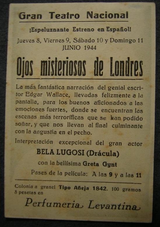 Reverse of Dark Eyes of London Spanish Herald