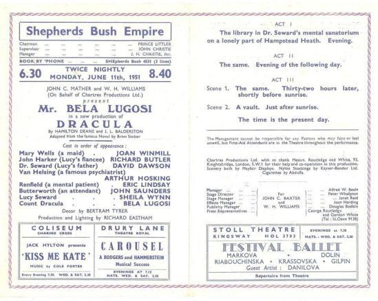 Shepherds Bush Empire Programme
