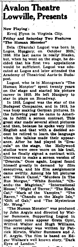 The Human Monster The Journal and Republican, May 30, 1940