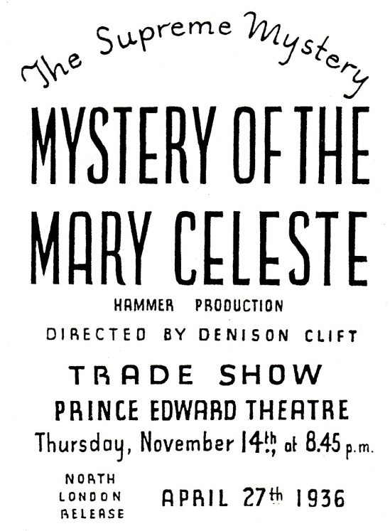 Mystery of the Marie Celeste Trade Show Ad