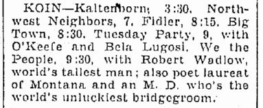 Tuesday Night Party, Oregonian, October 17, 1939 2