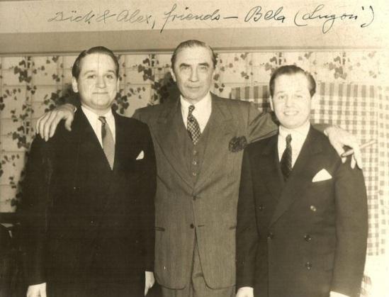 Bela with Richard and Alex Gordon