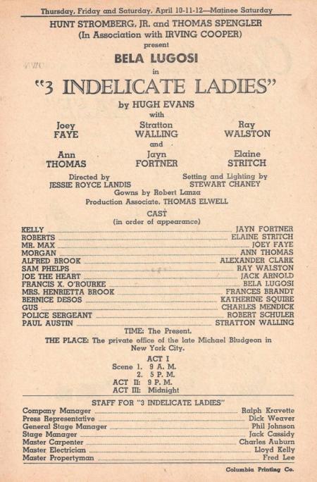 3 indelicate ladies broadside