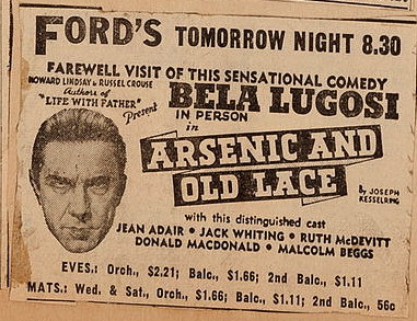 Arsenic and old lace ad