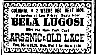 Arsenic and Old Lace, Boston Herald, March 15, 1944