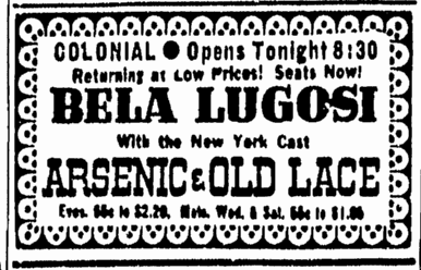 Arsenic and Old Lace, Boston Herald, March 20, 1944