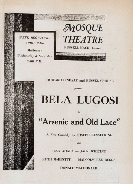 Arsenic and Old Lace Mosque Theatre