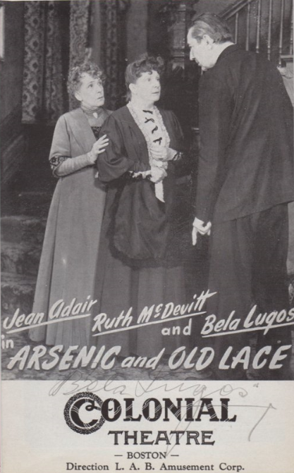 Arsenic and Old Lace Programme