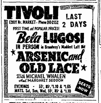 Arsenic and Old Lace, San Francisco Chronicle, August 17, 1943 2