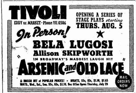 Arsenic and Old Lace, San Francisco Chronicle, July 24, 1943