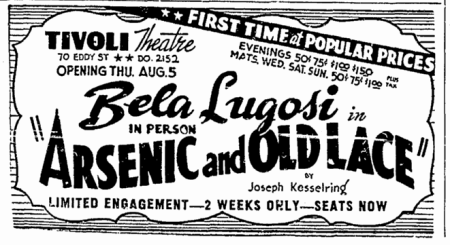 Arsenic and Old Lace, San Francisco Chronicle, July 29, 1943 2