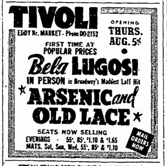 Arsenic and Old Lace, San Francisco Chronicle, July 31, 1943 2