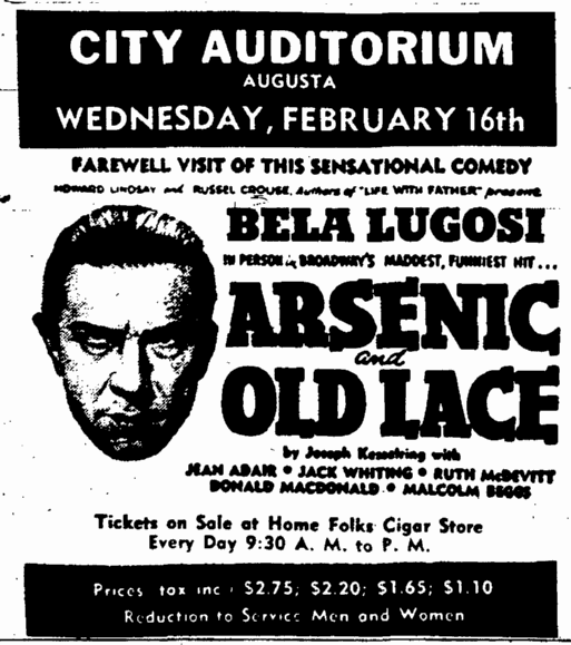 Arsenic and Old Lace, The Auguata Chronicle, February 13, 1944