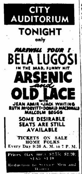 Arsenic and Old Lace, The Auguata Chronicle, February 16, 1944