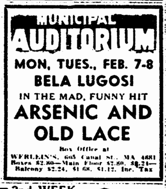 Arsenic and Old Lace, The Times-Picayune, February 1, 1944