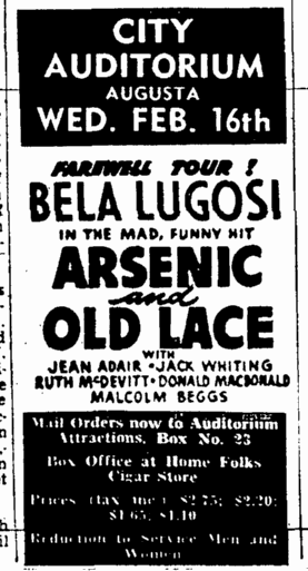 Arsenic and Old Lace, The Times-Picayune, February 10, 1944