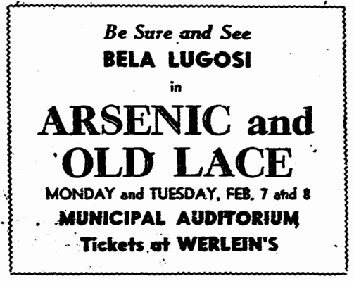 Arsenic and Old Lace, The Times-Picayune, February 6, 1944