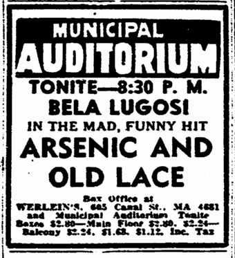 Arsenic and Old Lace, The Times-Picayune, February 8, 1944